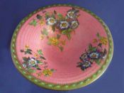Large Maling Pink 'Briar Rose' Art Deco Bowl c1936